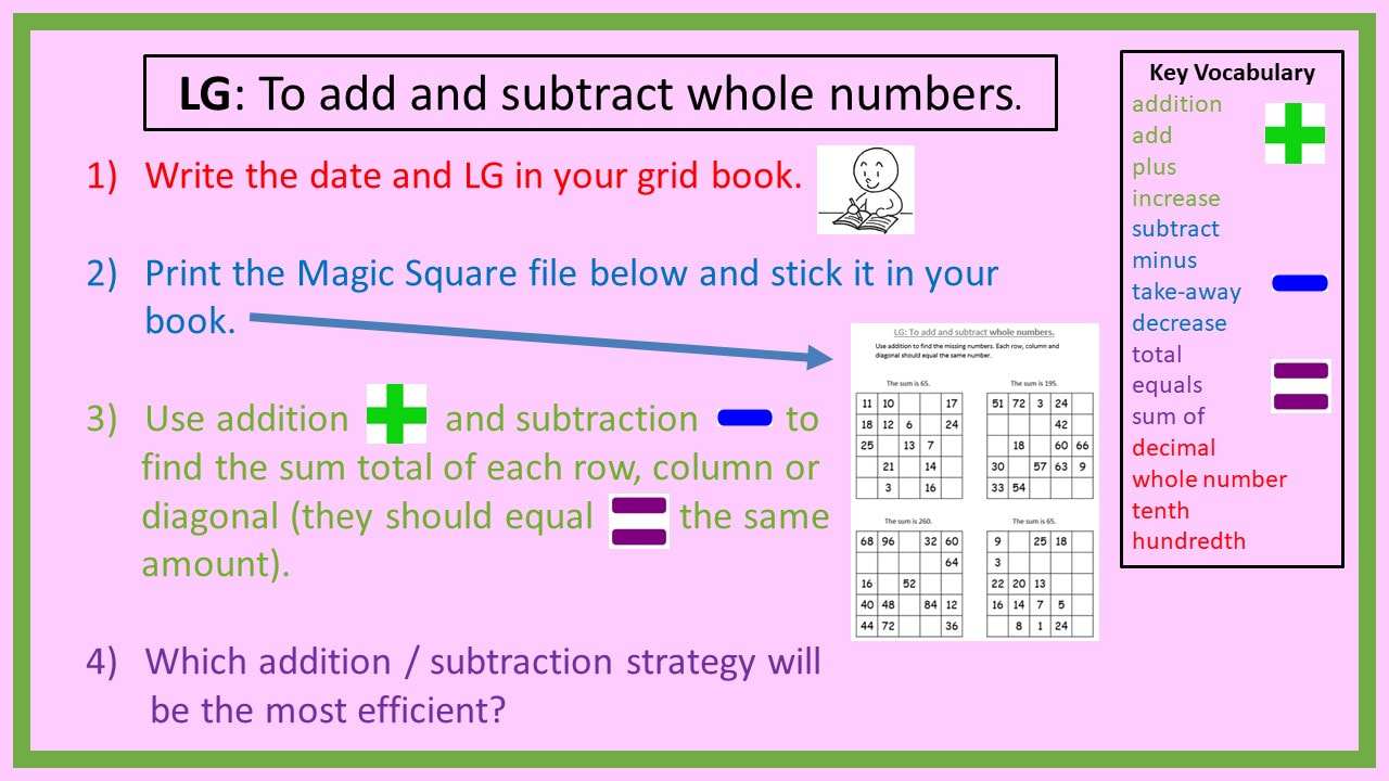 Adding and Subtracting Decimals and Whole Numbers - 34Auburn ...